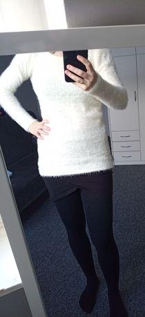 Mięciutki sweterek w góry górski sesja kremowy sweter może być ciążowy