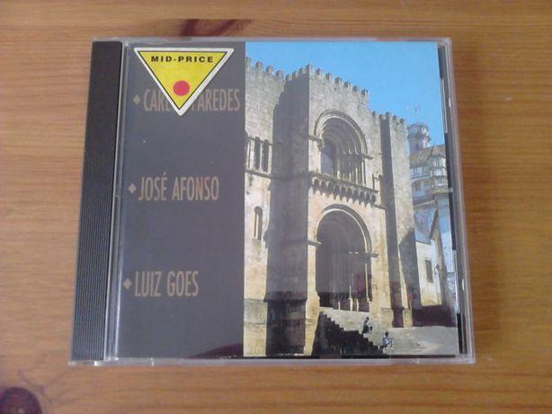 CD Carlos Paredes, José Afonso e Luiz Goes Encontros em Coimbra NOVOS