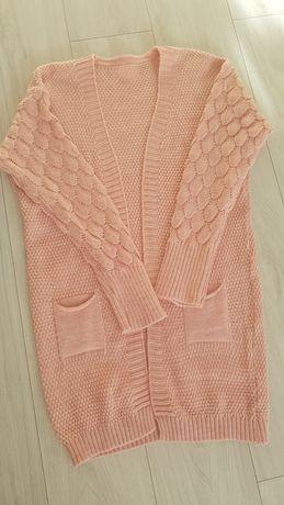 Sweter rękaw bąbelek damski
