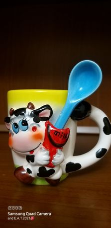 Чашка детская с ложечкой