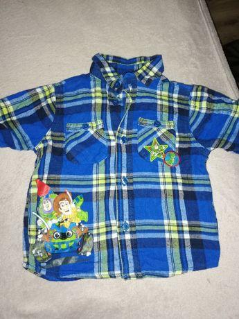 Koszula w kratę 92/98. Chłopiec