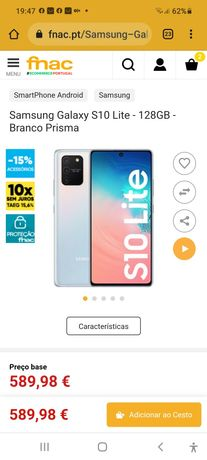 Samsung S10 lite com 128GB e garantia
