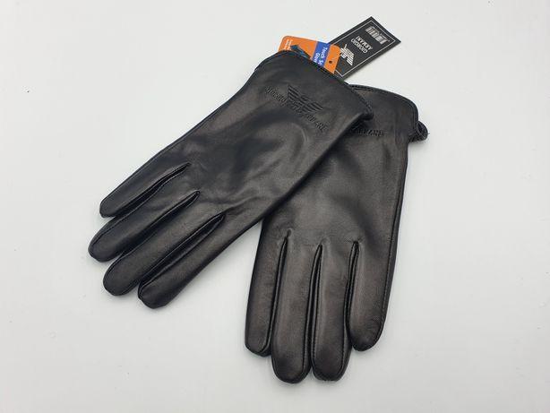 Мужские кожаные перчатки Giorgio Armani с Touch Screen