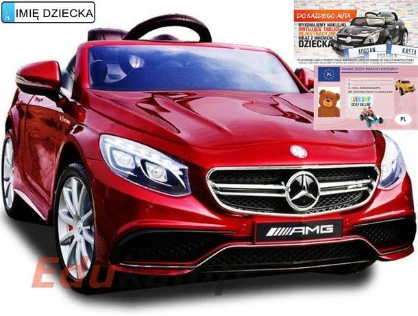 Mercedes s63 amg exclusive koła eva auto na akumulator piękny