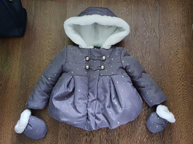 Kurtka dziecięca. dla dziewczynki, zimowa 9-12 miesięcy, r. 80