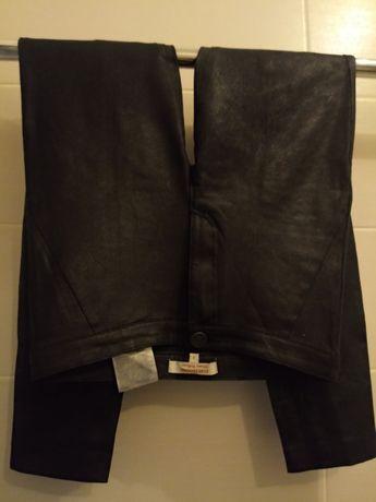 CLOCKHOUSE-super spodnie, materiał skóropodobny miękki -roz.S/jak nowe