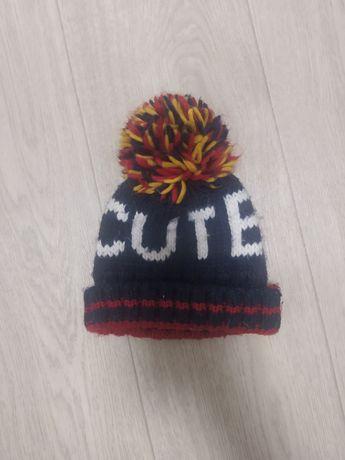 Зимняя шапка cute primark h&m gap 12-24 мес 1-2 года