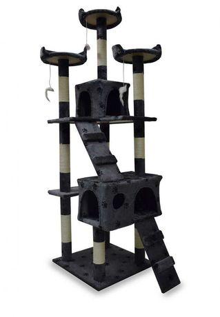 Duży Drapak Legowisko dla Kotów Wieża Kota 170 cm