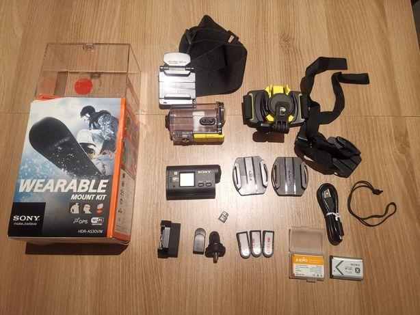 Kamera sportowa Sony Hdr-as30 dodatki obudowa gopro dji osmo xiaomi