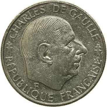 MOEDA - França - 1 Franco - 1988