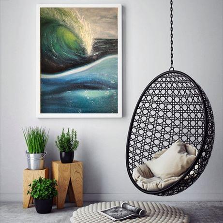 Картина маслом Море, 60х40 см Ручная работа