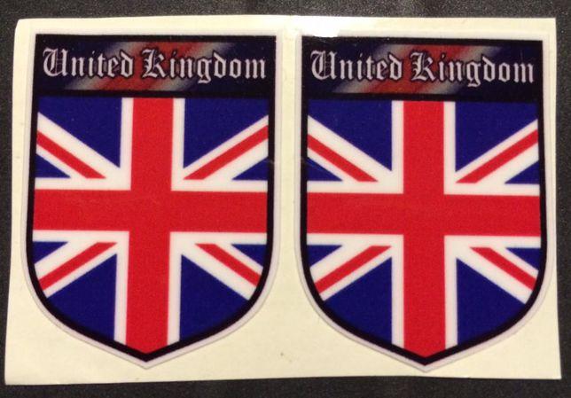 2 Autocolantes United Kingdom (Novo)