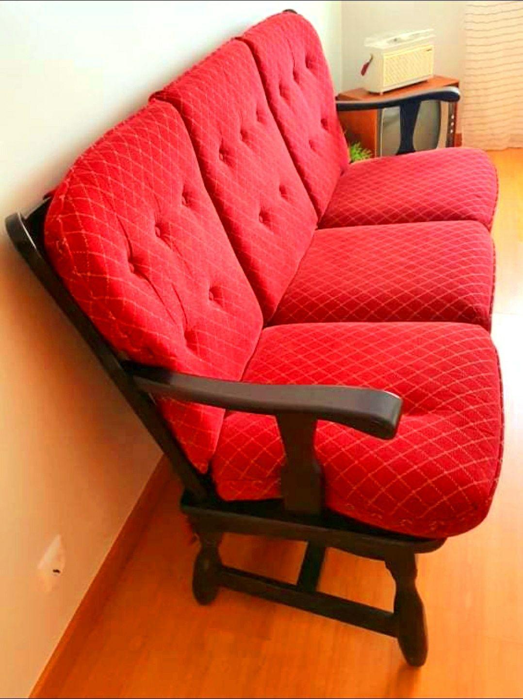 Canapé de 3 lugares - Sofá Vintage de 3 lugares