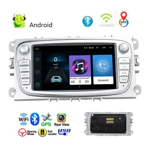 Radio FORD ANDROID 9.1 Mondeo Focus S-max 2DIN Nawigacja PL 24H GW