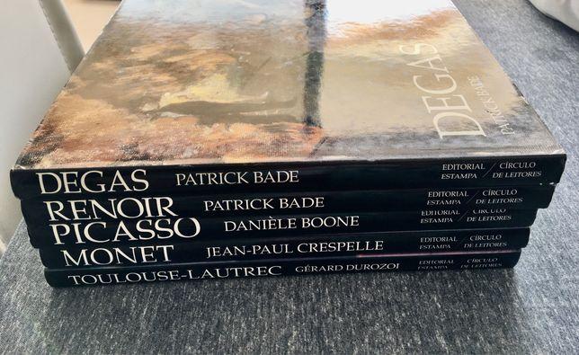 Livros de arte de capa dura , varios pintores com fotos coloridas