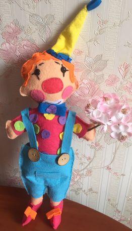Игрушка клоун из фетра