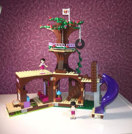 Лего LEGO friends Дом на дереве Лего дерево горы горка