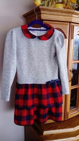 Sukienka, sukienka - Ogrodniczka rozmiar 140