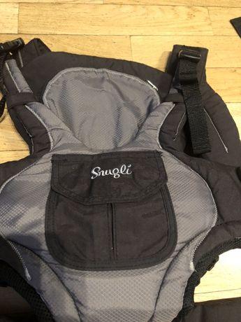 Nosidełko niemowlęce z kieszonkami, regulowane, miękkie