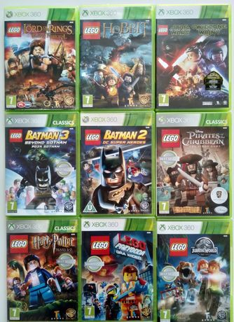 Gry Xbox 360 LEGO Batman Hobbit Harry Potter Piraci Jurasic Przygoda S