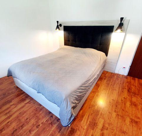 Nowe łóżko sypialniane z zagłowiem tapicerowanym 160×200