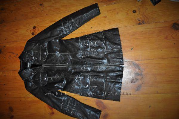 кожаная курточка шкіряна куртка тренч френч