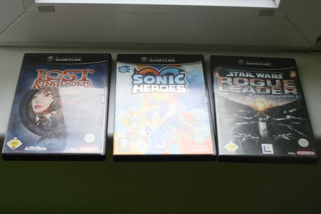 Nintendo Gamecube Star Wars Rogue Leader Sonic Heroes Lost Kingdoms
