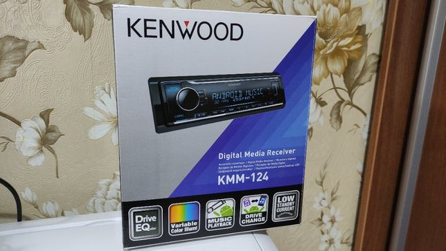 Автомагнитола Kenwood KMM-124, USB, MP3, 1DIN