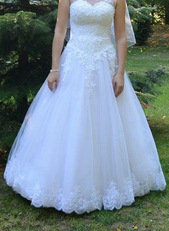 Śliczna suknia ślubna typu Princessa
