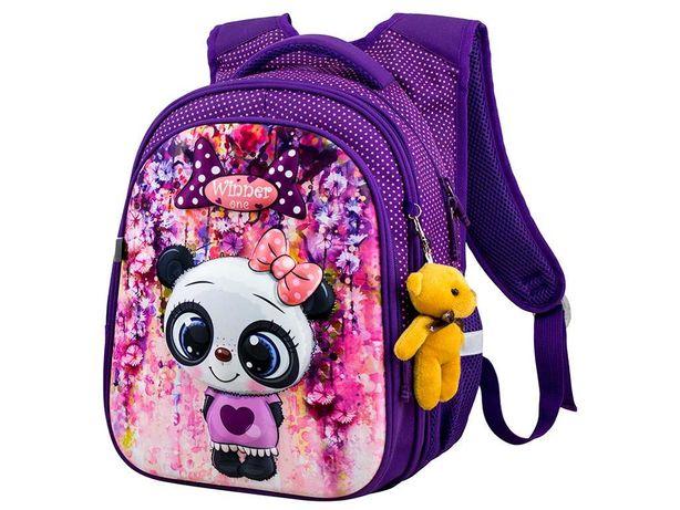 Рюкзак  WinnerOne R1-001 школьный для девочки + подарок Мишка-брелок