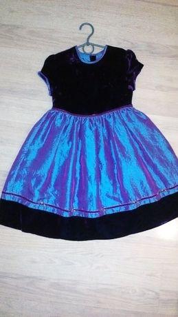 Нарядное платье бархат-атлас 6-8лет