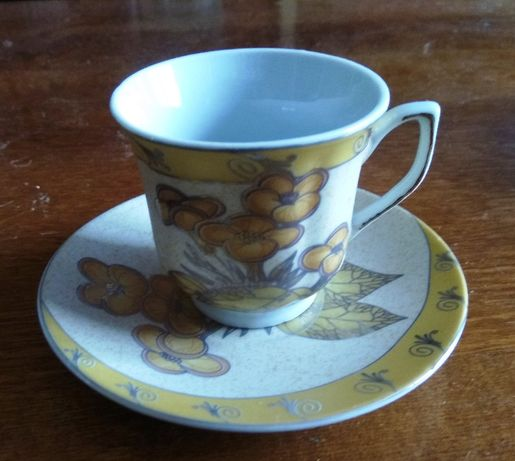 чашки кофейные 6 шт, 6 блюдец. япония.