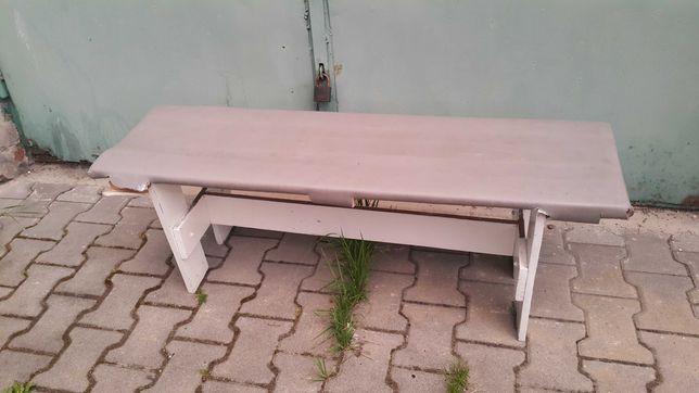 Ławka Ogrodowa Drewniana Ławeczka Biała Siedzisko Ogrodowe