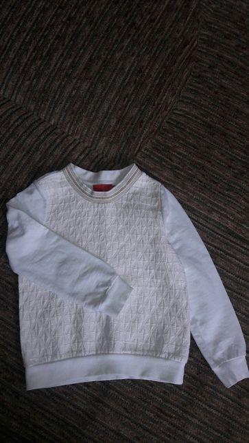 Faberlic нарядная теплая кофта свите свитшот люрекс коттон 116 размер