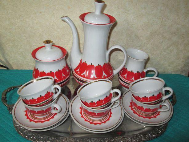 Винтажный кофейный сервиз «Перцы» Бориславский фз