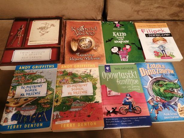 Zestaw książek KRONIKI Archeo piętrowy domek Kazio Zatoka Dinozaurów