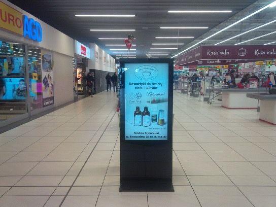 Totem reklamowy wyświetlacz - TV przemysłowa - połykacz LCD - reklama