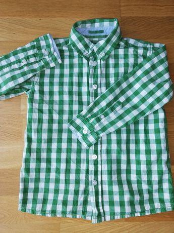 Zielona koszula, kratka, chłopiec 5.10.15 rozmiar 110