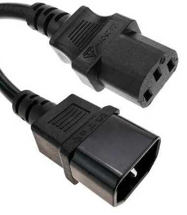 Cabo de energia elétrica (Power) IEC; C13 e C14