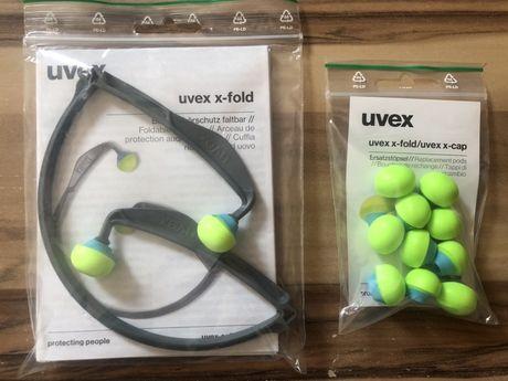 Zatyczki przeciwhałasowe UVEX x-fold + wkładki