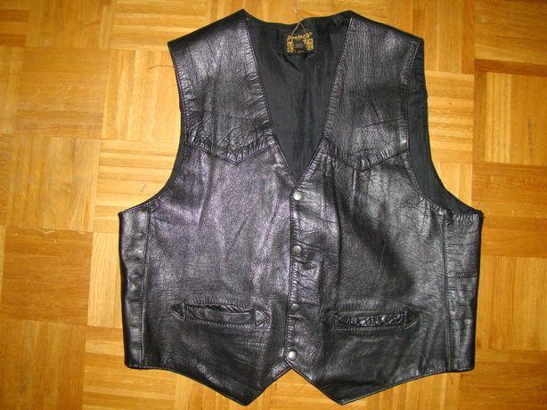 SOLIDNA SUPER Oryginalna skórzana kamizelka męska XL 54/56