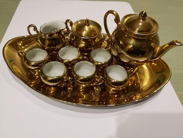 Porcelana Stan Idealny Ćmielów pozłacany zestaw porcelanowy dla lalek