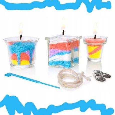 Nowy zestaw do robienia świec kolory! Dla dzieci 6+ i dorosłych