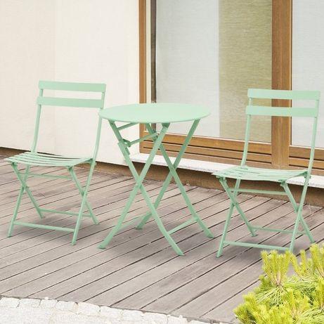 Zestaw mebli ogrodowych 3 czesci kolor pastelowy