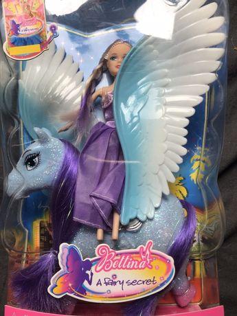 Bettina кукла с пегасом, барби с лошадкой