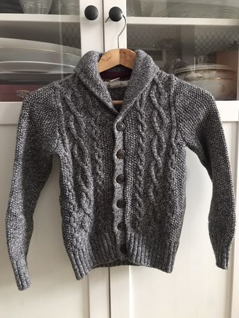 Sweter zapinany H&M 122/128 wełna EXTRA