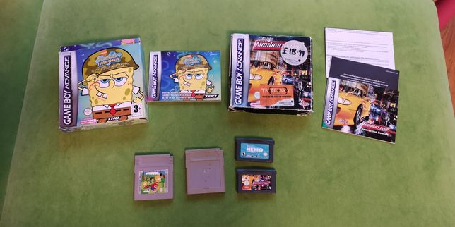Gry game boy: Tetris, midnight club racing, finding nemo, sponge bob