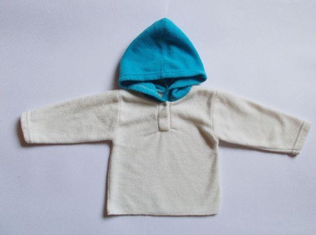 Кофта с капюшоном на флисе для мальчика или девочки (0-3 мес.)