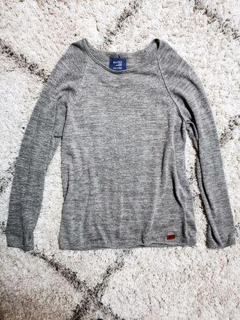 Szary sweter meski grunge rockowy melanzowy blend xl