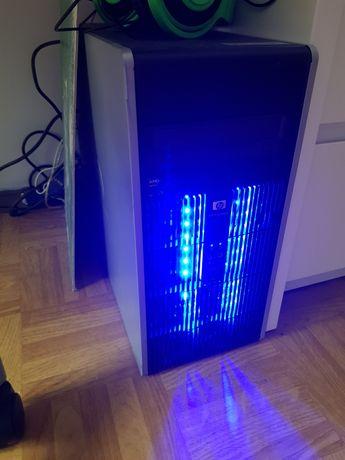 Obudowa komputerowa komputer Hp ledy niebieskie